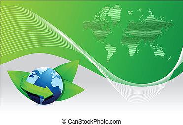green earth globe eco