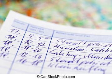lodní deník, vůz