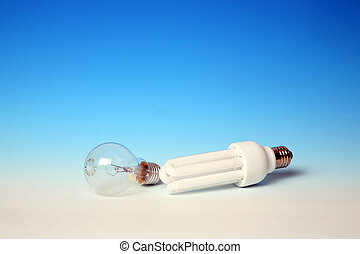 Energy-efficient vs normal light bulbs