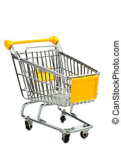 cart in front of a white background