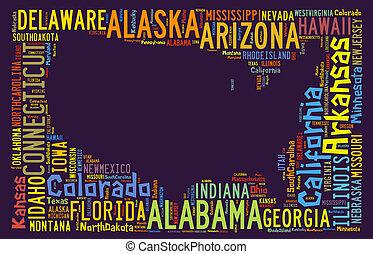 USA Map Shape 2