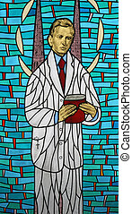 Blessed Ivan Merz - Stained glass with blessed Ivan Merz
