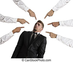 Accused businessman - Concept of accused businessman on...