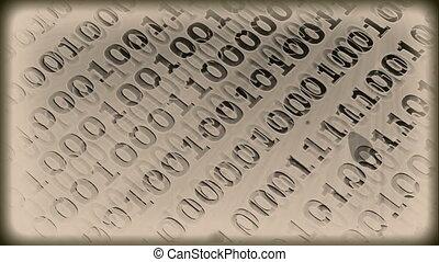 Grunge Vintage - digital code - Grunge vintage background -...