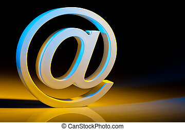 email characters. online communication. - the e-mail...
