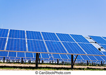 alternative solar energy. solar energy power plant. -...