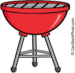 Red Barbecue - Illustration Of Red Barbecue