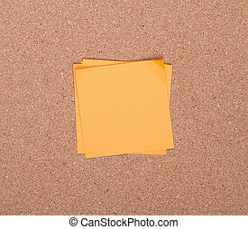 sticky notes on a bulletin board