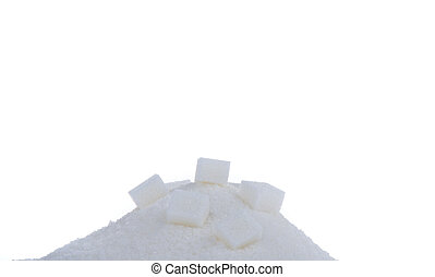 sugar. unhealthy diet with carbohydrates