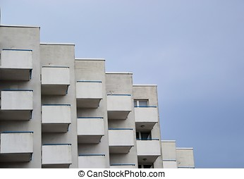 a hotel with balconies