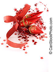 red Christmas decorations - beautiful red seasonal Christmas...