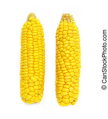 Ear of corn isolated on white