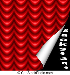 Backstage - Opening leading behind the red curtain
