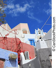 Architecture at Oia, Santorini, Greece