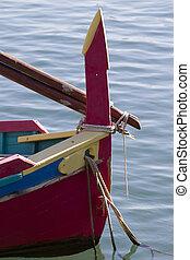 Proue, barque catalane - pièce avant proue dune barque...