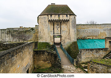 Caen - Entrance to the castle of William the Conqueror in...