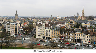 Caen - View on Caen, Normandy, France, from the castle of...