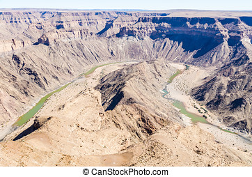 Fish River Canyon, Namibia - View of the Fish River Canyon,...