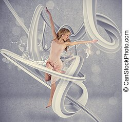 Dancer - Concept of dancer with motion effect