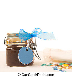 jam jar with blank label for text