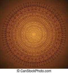 Vintage mandala ornament background. Vector image.