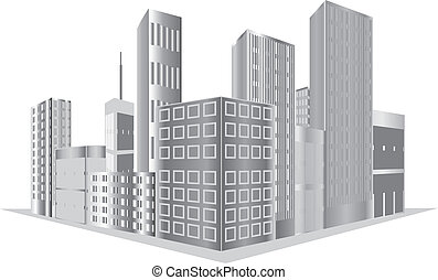 Buildings vector - vector grey buildings