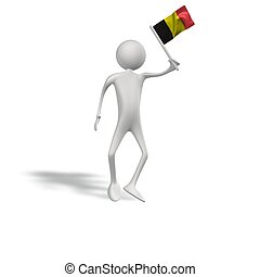 human figur with flag