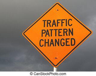 traffic pattern changed sign