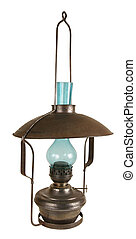 Old lamp working on kerosene. The frequent originator of a...