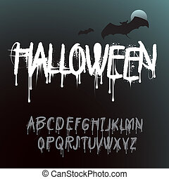 Halloween Splash Alphabet - Halloween Splash graffiti...