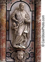 StMatthew the Evangelist, pulpit in Zagreb cathedral