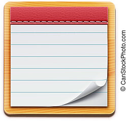 notepad - Vector illustration of notepad with blank lined...