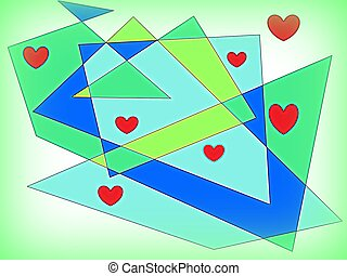 abstract shapes and colors love