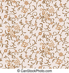 Seamless vector paisley background