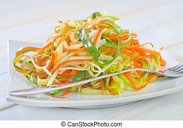 salad with celery and carrot