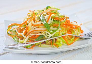 ensalada, apio, zanahoria