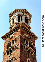 Lamberti Tower in Verona, Italy