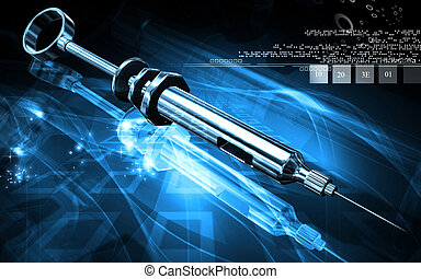 Syringe - Digital illustration of Syringe in colour...