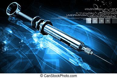 Syringe - Digital illustration of Syringe in colour...