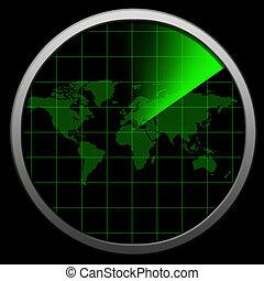 Millitary radar - Globe Radar and millitary consept...