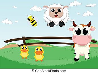 cute farm animal