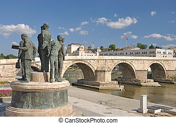 The new look of Skopje City, Macedonia - The city under...
