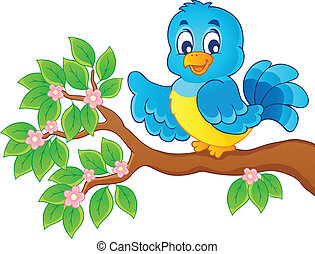 Bird theme image 6 - vector illustration.