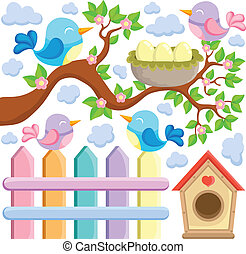 Bird theme image 5 - vector illustration.