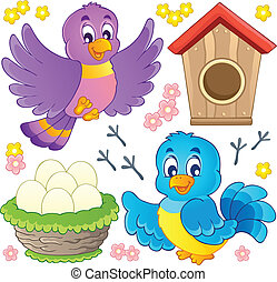 pássaro, tema, imagem, 9