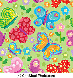 Butterfly seamless background 4 - vector illustration.