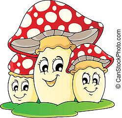 Mushroom theme image 1 - vector illustration.