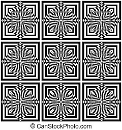 Seamless geometric op art pattern Vector art