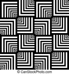 Seamless op art geomertic pattern - Seamless op art pattern...