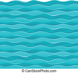 Waves theme image 7 - vector illustration.